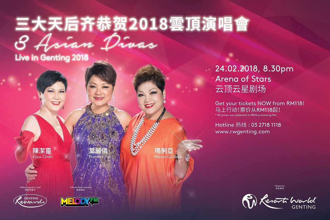 3 Asian Divas Live in Genting 2018 Poster